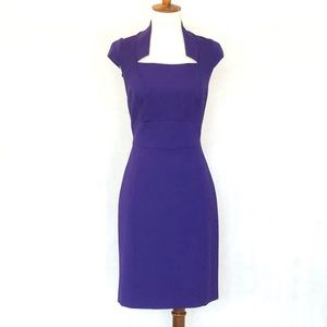 Antonio Melani Cap Sleeve Purple Ponte Knit Dress